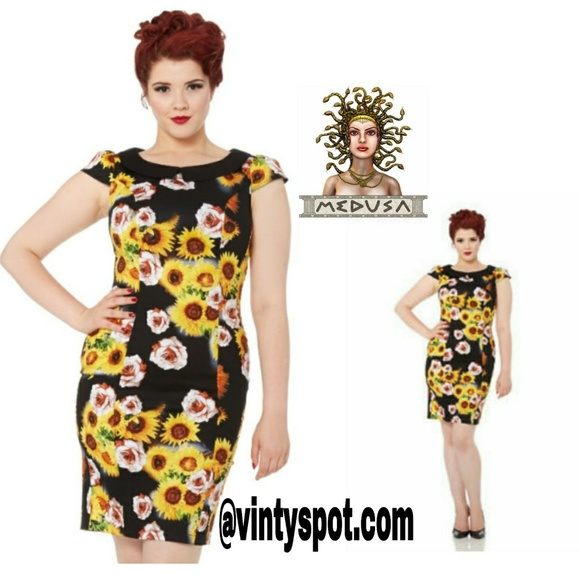 13abf7f18649 Voodoo Vixen Dresses   Sunflower Rose Pencil Dress   Poshmark